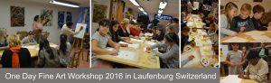 One day fine art workshop in Laufenburg Switzerland